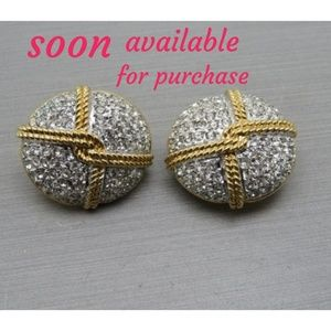 Authentic Swarovski Crystal two tone  Earrings